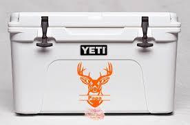 Yeti Buck Decal Yeti Decal Yeti Cooler Decal Deer Decal Buck Etsy