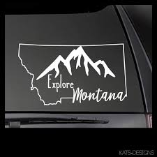 Explore Montana State Vinyl Decal Car Truck Window Sticker Mt 00001