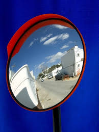 convex mirrors used as rearview mirrors