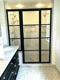 shower door frame gold shower doors