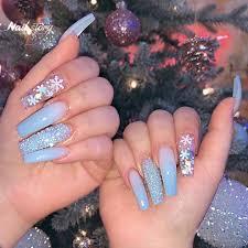 55 blissful baby blue acrylic nails