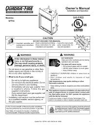 quadra fire qfp 30 owner s manual