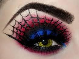 stunning spider man eye makeup pic