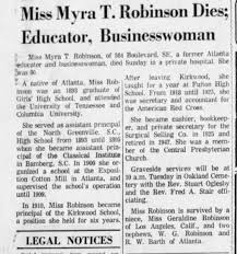 Myra Robinson Obit - Newspapers.com