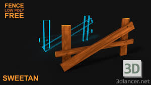 3d Model 3d Broken Wooden Fence V1 Game Asset Low Poly 3dlancer Net