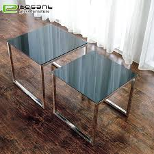 china modern square tempered glass top
