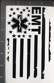 4 X 6 Paramedic Emt Vinyl Car Decal Sticker Window Health Care Usa Flag Rn Ebay