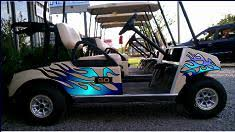 Golf Cart And Buggy Reflective Decals And Graphics Set