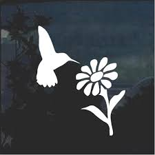 Hummingbird And Daisy Flower Window Decal Sticker Custom Sticker Shop