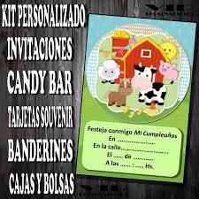 Kit Imprimible Animales De Granja Cumpleanos Bautismos