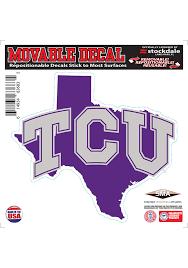 Tcu Horned Frogs State Shape Team Color Auto Decal Purple 16371798