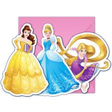 6 Invitaciones Y Sobres Princesas Disney Envios 24h