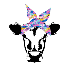 Tumbler Cup Or Laptop Custom Sizes Personalized Cow With Bandana Vinyl Decal For Car