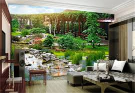 3d landscape living room bedroom tv