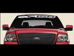 Ford F 150 F150 Windshield Banner Decal Sticker A1 Custom Sticker Shop