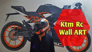 Ktm Rc Drawing Wall Art Painting L Youtube