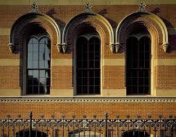 Windows Architecture Detail Design Brick Exterior Building Glass Arches Wrought Iron Fence Pikist
