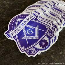 Blue Lodge Freemason Die Cut Sticker Fossil Bluff