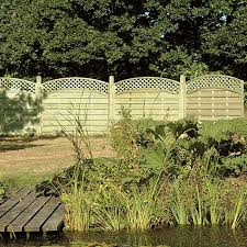 Arched Lattice Top Fence Panel Reynolds Timber