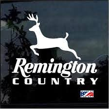 Remington Country Deer Hunting Window Decal Sticker Custom Sticker Shop