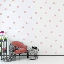 Coeebali Rose Gold Dots Wall Stickers 2 0inch X 300 Decals Safe On W