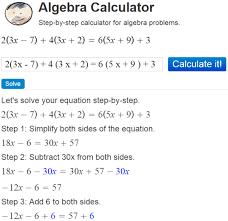 website that solves algebra problems