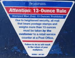 usps 13 ounce mail rule