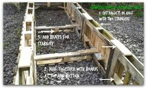 raised garden beds from used pallets