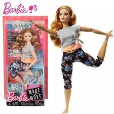 Chính Hãng Chính Hãng Mattel Búp Bê Barbie Thể Thao Thể Dục Yoga Thời Trang  22 Khớp Được Thực Hiện Để Di Chuyển Boneca Brotte Đồ Chơi Bé Gái FTG80