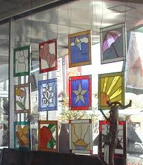 how to hang a stained glass window