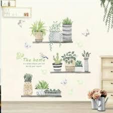 Wall Decal Garden Plant Flower Pot Wall Sticker Living Room Kitchen Decoration Ebay