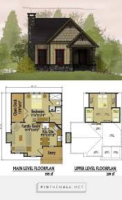 small cottage floor plan with loft domy