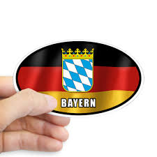 Cafepress Bayern Coat Of Arms White Letters Sticker Oval Walmart Com Walmart Com
