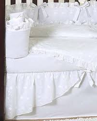 white baby bedding set white eyelet by