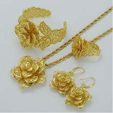 bangle ring earrings flower wedding