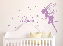 Fairy Wall Decal Girl Name Wall Decal Fairy Wall Decals Etsy Baby Girl Room Decor Nursery Wall Decals Girls Room Decor