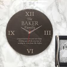 family slate clock housewarming gifts