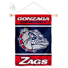 Gonzaga Bulldogs Window Hanging Banner With Suction Cup And Small Wall Banners For Gonzaga Bulldogs