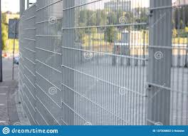 Grey Grating Metal Wire Industrial Fence Panels Stock Image Image Of Chrome Horizontal 137305683