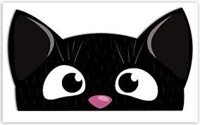 Amazon Com 1 X Vinyl Sticker Cute Cat Peeking Cartoon Funny Decal Car Motorcycle Helmet B 248 Kitchen Dining