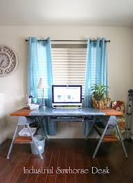 how to build a sawhorse desk for both