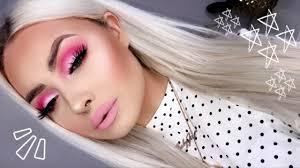 barbie pink monochrome makeup tutorial