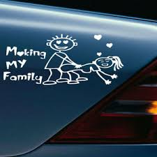 My Family Funny Vinyl Decal Sticker Car Auto Window Decals Stickers 1pc Ebay