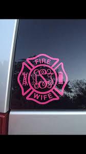 Fire Wife Monogram Decal Car Sticker Fire Wife Decal Firefighter Wife Decal Fire Decal Firemans Wife Fire Fig Fire Wife Firemen Wife Firefighter Wife