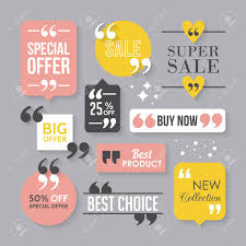 modern block quote and pull quote sign design elements