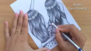 Pencil Drawing - How to Friendship Day ...