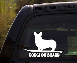 Amazon Com Ohiodecals Com Corgi On Board Funny Dog Breed Decal Sticker For Car Or Truck Window Automotive