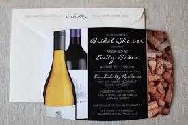 wine themed bridal shower invitation