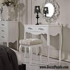 luxury modern white dressing table