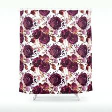 excellent burdy shower curtain pink